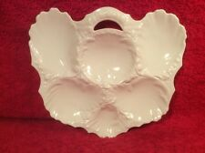 Antique Snow White French Limoges Oyster Plate c.1891-1896, op315