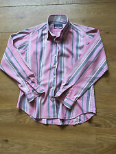 GORGEOUS CRICHTON LONDON PINK  STRIPE BLOUSE SHIRT UK 12 COST £120