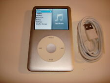APPLE  IPOD  CLASSIC  7TH GEN.  CUStOM  SILVER  120GB...NEW  BATTERY...