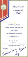 GEORGE H.W. BUSH - INAUGURAL TICKET SIGNED CIRCA 1981 WITH CO-SIGNERS