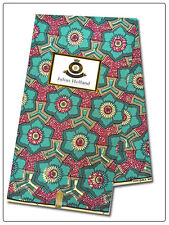 African Ankara, Newest Design, Julius Holland Dutch Wax, 100% Cotton, 6 Yds 731