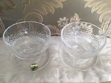 Set of 2 Waterford Crystal COLLEEN-Short Stem Footed Dessert Dishes