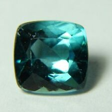 Natural blue-green Tourmaline, 1.85ct,  7x7x5mm, paraiba color, Brazil 606