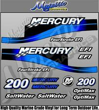 MERCURY 200hp - BLUE - EFI SALTWATER - OUTBOARD DECALS