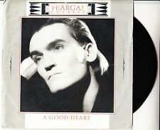 "FEARGAL SHARKEY A Good Heart PICTURE SLEEVE 7"" 45 record + juke box title strip"
