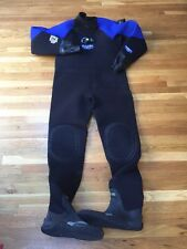 Bare NST D6 Pro Dry Suit Men's for Scuba Diving Black Blue XXL New