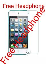 HD Temper Glass Screen Protector + IPOD HEADPHONE for Apple iPod 5 & iPod 6
