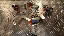 TRIUMPH AMERICA & SPEEDMASTER - POLISHED STAINLESS INDICATOR BRACKETS & INDS