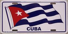 "Aluminum National Flag Cuba unfurled ""License Plate"" N"