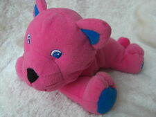 BABY BRIGHT PINK CAT SOFT TOY TEDDY COMFORTER RATTLE BLUE EYE KITTEN NEXT EASTER