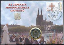 Vatikan 2 Euro 2005 Gedenkmünze 20. Weltjugendtag in Köln im Numisbrief