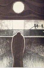 Charles mantener montado Vintage Litografía, M. R. James historias de fantasmas 1973 MR09