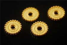 50pcs Golden Metal Beads Loose Spacer Crafts Jewelry Charms Findings 10x2mm