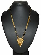 Fancy Mangalsutra designs 24k Gold Filled 2 String of beads Chain For Women 1120