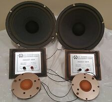 "Vintage 1973 Realistic / Pioneer 10""  Stereo Speakers,Tweeters, Crossovers."