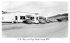 Photo. 1951-2. Cache Creek, BC Canada. T.U. Store and Cafe - autos