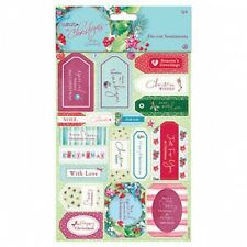 Papermania At Christmas Lucy Cromwell Die-cut Sentiments (2pk)