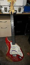 Vintage Encore Strat right handed red electric guitar for parts