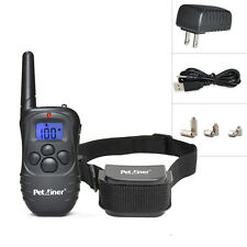 Pet Dog Training Collar Rechargeable Electric LCD 100LV Shock Collar With Remote
