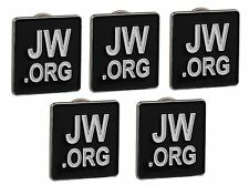 JW.ORG LAPEL PINS SQUARE TIE PINS SET OF 5 BLACK