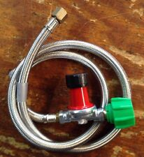 "HP,  Regulator Kit 0-30 PSI with 48"" Stainless Braided Hose for Cookers"