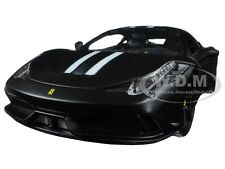 FERRARI 458 MATT BLACK SPECIALE SIGNATURE SERIES 1:18 MODEL CAR BBURAGO 16903