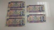 Canadian 1971 $10 Bills Lot of (5) Rare Currency