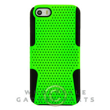 Apple iPhone 5/5S/SE Hybrid Mesh Case - Lime Green/Black Cover Shell Protector