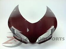 Ducati 848 1098 1198 Upper Front Nose Fairing Cowl Cowling 100% Carbon Fiber Red