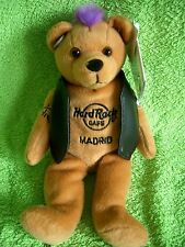 HRC Hard Rock Cafe Madrid Punk Bear Mohawk 2009 Purple Hair Herrington