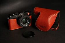 Genuine real Leather Full Camera Case bag Cover for Leica D-LUX Typ 109 Brown