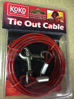 Tie Out Cable Lead For Dog Pet Puppies 10ft 15ft 20ft Metal Steel Spiral Pole