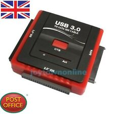 "NUOVO USB 3.0 a SATA IDE 2.5"" 3.5"" Disco Rigido HDD Adattatore Convertitore Video OTB win7"