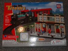 Train Station with Track 8 in 1 BricTek Building Block Construction Toy Brick