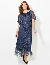 CATHERINES PLUS SIZE Cosmic Crochet Gown DRESS SIZE 26W HOLIDAY COCKTAIL PARTY