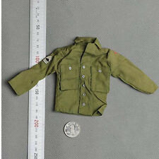 """1/6 Dragon DML Model WWII Soldier US Green Shirt Jacket W/Armband For 12"""" Figure"""