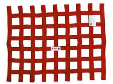 STR Window Net Webbing Heavy Duty Rectangular SFI 27.1 Stock Car Mini RED