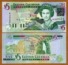 Eastern East Caribbean $5 (2003) St. Vincent Pick 42v UNC