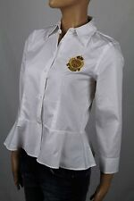 Ralph Lauren White Crested Blouse Shirt NWT 6