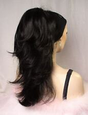 Black Clip-On Reversible Hair Piece Ponytail Extension!