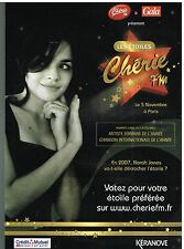 Publicité Advertising 2007 Radio Chérie FM avec Norah Jones
