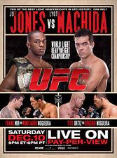 UFC 140 JON JONES v MACHIDA Toronto 12/10/2011 Official Full-Sized Event Poster