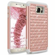 RANZ Samsung Galaxy Note 5 Spot Diamond Studded Crystal Dual Layer Hybrid Case