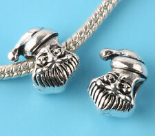 2pcs Tibetan silver Santa Claus Spacer beads fit European Bracelet Chain #E211
