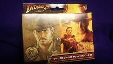 INDIANA JONES - TWO DECKS All Four Movies PLAYING CARDS / Casino Poker Blackjack