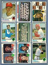 1973 TOPPS  BASEBALL EX to NRMT COMPLETE YOUR SET - U PICK ANY TEN #'s 1-528