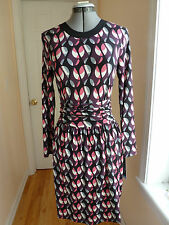 Missoni long sleeve faux button down on a back geometric patern dress size XS/S