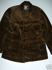 NWT Mens Ralph Lauren Polo Brown Corduroy Suede Rousham Shooting Coat Medium NEW