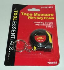 MOMENTUM BRANDS Tape Measure With Key Chain Measures To 3 Ft/1 m NIP  Yel/Bla