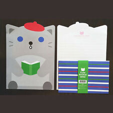 Cute Gray Kitty Animals Letter set - 4sh Writing Stationery Paper 2sh Envelope